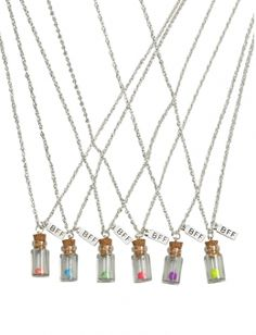 BFF Flower Bottle Necklaces