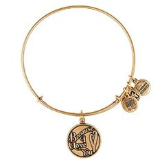 Alex and Ani Because I Love You Charm Bangle Rafaelian Gold Finish Bracelet, A13EB04RG *** You can get more details by clicking on the image.