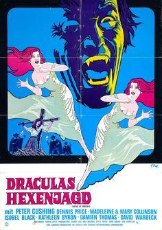 Twins of Evil / Twins of Dracula, Original Vintage Film Poster Sci Fi Horror, Gothic Horror, Horror Films, Horror Movie Posters, Movie Poster Art, Dracula, Tudor, Savage, Hammer Films