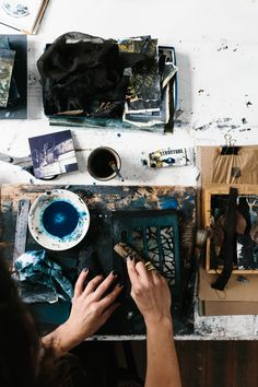 Helene Athanasiadis at work in her studio - photo,Tara Pearce Artist Life, Artist At Work, Ravenclaw, Dream Studio, Make Art, Art Plastique, Art Studios, Belle Photo, Creative Inspiration
