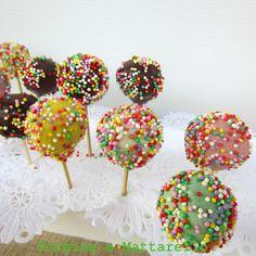 milleideeperunafesta: Arcobaleno: cake pops