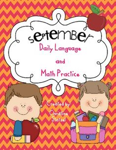 This is a book for the month of September for daily language and math practice. The book has a cover page and a page for each day of the week for t...