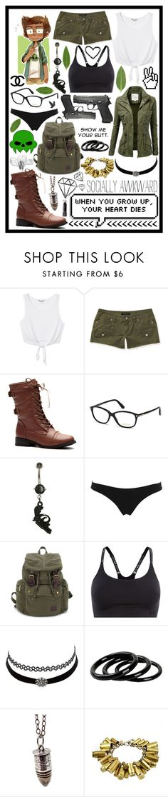 """""""Jake English"""" by cupa1213 ❤ liked on Polyvore featuring Monki, Aéropostale, Donna Karan, Tom Ford, La Perla, Under Armour, Charlotte Russe, Furla, Astali and Chanel"""