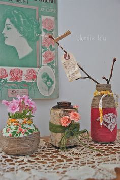 Dressed Up Bottles by blondiebluvintage, via Flickr