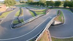 Outdoor go kart racing track in a beautiful sunny day at Herefordshire Raceway in Weobley
