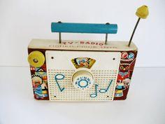 Vintage Fisher Price TV Radio  Plays 10 by UrbanRenewalDesigns, $12.99
