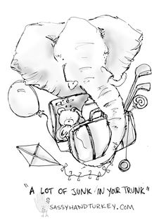 A Lot Of Junk In Your Trunk #funny #elephant