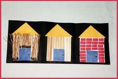 3 Little Pigs Craft - and other fun Fairy Tale activities!