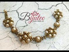 Pearl flower beaded bracelet - YouTube