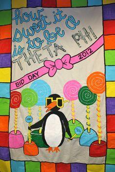 Theta Phi Alpha Gamma Nu's Bid Day Banner 2012
