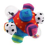 Inspire baby's senses and fine motor skills with a brightly patterned bumpy ball that baby can hold, toss and roll.