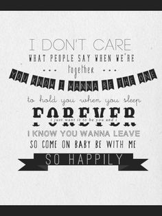 Happily lyrics- One Direction Happily One Direction Lyrics, One Direction Songs, I Love One Direction, 1d Quotes, Lyric Quotes, Qoutes, Canciones One Direction, Best Song Ever, Music Lyrics