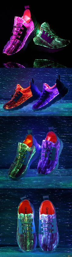 Men Colorful Light Shoes. You can control the Led light color while you move ,the switch just inside the back counter strip. Shop at banggood with super affordable price.