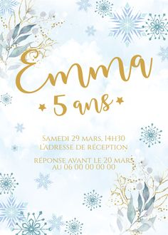 Carton d'anniversaire à personnaliser thème neige, format 15x21cm, tarif sur devis avec ou sans impression  #graphiste #neige #anniversaire #invitation #enfant #décoration #personnalisation #marseille #paris #france Marseille France, Paris France, Marie, Invitation, Etsy, Impression, Tableware, Design, Wedding Stationery