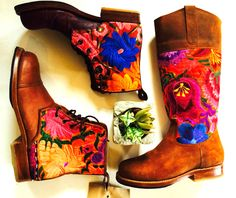 Sping Florals have us smiling all day! Teysha handmade (and custom made!) boots <3 www.teysha.is