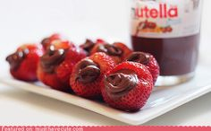 Nutella stuffed strawberries! Only in my dreams, so simple but so good!