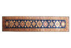 Bashian Fine Kazak Rug, Dark Blue - One Kings Lane