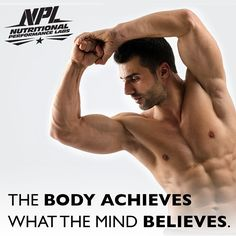 The body achieves what the mind believes. Monday Motivation, Believe, Mindfulness, Nutrition, Instagram Posts