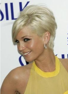 what can i say? i think women that can rock short hair and still look feminine are super hot!