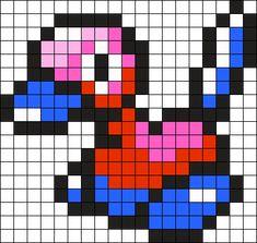 Porygon2 Pokemon Bead Pattern Perler Bead Pattern / Bead Sprite
