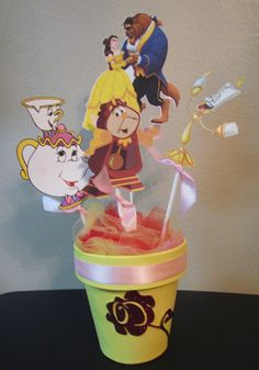 Princess Belle Beauty and the Beast Birthday Party Centerpiece by… Beauty And The Beast Theme, Disney Beauty And The Beast, Princess Belle Party, Princess Birthday, Princess Crafts, 6th Birthday Parties, 4th Birthday, Birthday Ideas, Birthday Party Centerpieces