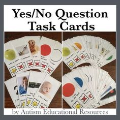 """Assess your students' understanding of some of the most important academic and daily living vocabulary words as well as their knowledge of the foundational concepts """"yes"""" and """"no"""" with this task card set!"""
