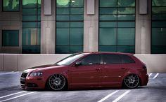 Audi wagon maroon.
