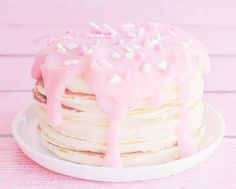 nigai: Valentine's Day Cherry Chip Pancakes With Cheesecake Sauce (by FFF)