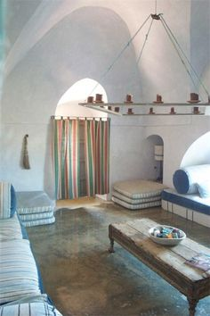 Candle chandelier (home in Pantelleria, Italy)