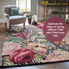 Rugs Beyond offers a stunning and vibrant range of Area Rugs in Mississauga,Brampton And Vaughan. We have a wide collection of floor coverings & Home furnishings to make your home elegant and charming. The Colour Of Spring, Floral Area Rugs, Rug Store, Home Furnishings, Vibrant, Flooring, Fresh, Colors, Check