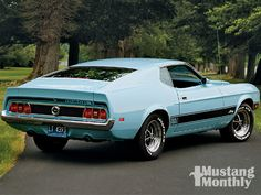 1973 Ford Mustang Mach 1 Right Rear View