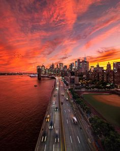 Burning skies over NYC Image by Places To Travel, Places To Visit, Skier, New York Photography, Sunset Photography, Aerial Photography, Landscape Photography, New York Architecture, Washington Square Park