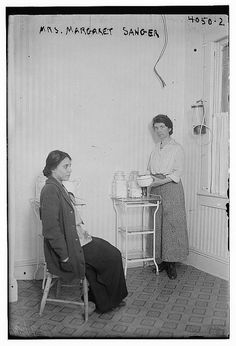 Margaret Higgins Sanger (September 14, 1879 – September 6, 1966), American birth control activist, sex educator, and nurse. She had been arrested on October 26, 1916 for disseminating information about birth control, shortly after opening a clinic (probably the one pictured) in Brooklyn.