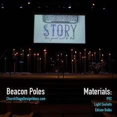 Beacon Poles | A cool idea to use. Maybe even use LED version bulbs to change the brightness levels.
