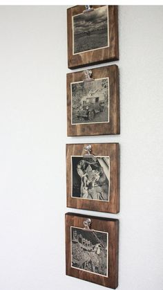 Set of FOUR Rustic Wall Clip Frame, Picture Display, Ins .- Set of four 4 rustic wall clip frames picture display - Diy Home Decor Rustic, Home Decor Sets, Rustic Wall Decor, Rustic Walls, Easy Home Decor, Rustic Frames, Rustic Picture Frames, Diy Picture Frames On The Wall, Rustic Wood