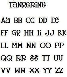Tangerine Font Alphabet Machine Embroidery Design. $4.50, via Etsy.