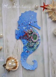"""Открытка """"Морской конёк"""" http://creativityolgabutrimova.blogspot.ru/"""