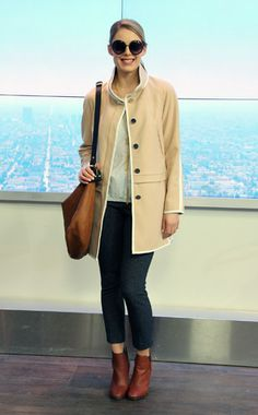 Replicate Jennifer Lawrence's style with the perfect tailored camel coat