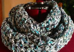 Hand Crocheted Infinity Scarf Multicolored by GreenPhoenixDesigns, $20.00