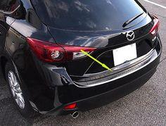 Rear bumper Protector Scuff Plate Guards sill for 2014 2015 mazda 3 Hatchback Bumper Hitch, Mazda 3 Hatchback, Mazda Cars, Vehicles, Garage, Plate, Carport Garage, Dishes, Plates