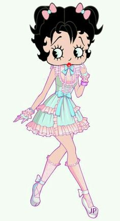 Young Betty Boop ~ #illustration #cartoons ✿⊱╮