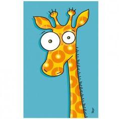 Ce tableau girafe de la marque Série-Golo est un décor plein de couleurs à fixer au mur d'une chambre d'enfant.