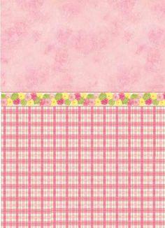 Dollhouse:~ Check Floral Wallpaper.