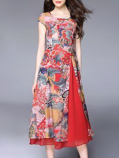 Discover thousands of images about Red Short Sleeve Crew Neck Silk Midi Dress Trendy Dresses, Women's Dresses, Cute Dresses, Beautiful Dresses, Casual Dresses, Short Dresses, Batik Fashion, Hijab Fashion, Fashion Dresses