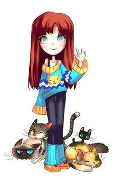 Crazy Cat Lady Illustration - Future Crazy Cat Lady by Lori Stebbins