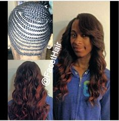 How to do a sew in weave using a net longing4length 1 full head sew in weave with edges and part left out pmusecretfo Images