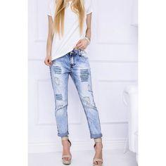 Boyfriend Jeans gebleicht Abschürfungen aus Großhandel und Import