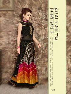Black and Golden Exclusive Designer Kurti With Lehenga