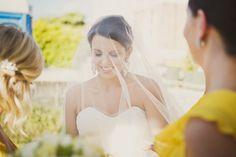 Queensland Brides: Brisbane Urban Elegance: Kristian + Moira. Yellow bridesmaid dresses