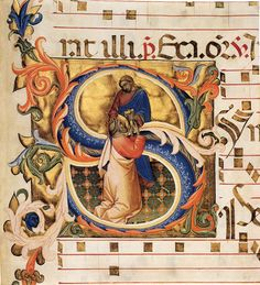 Antiphonary (Cod. Cor. 8, folio 134), 1395-98. Tempera and gold on parchment, 344 x 414 mm. National Gallery of Art, Washington.
